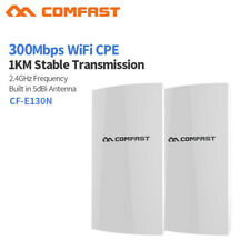 COMFAST 2pcs WiFi Wireless Outdoor CPE 300Mbps Point Access Extender Router PoE