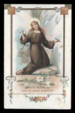 antica cartolina RELIGIOSA S.ROSALIA DI PALERMO