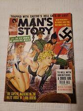 Man's  Story Magazine, 1964 March, Nazi, torture, GGA, pulp, bondage, adventure
