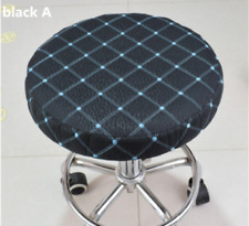 "2Pcs 14"" Bar Stool Cover Round Chair Seat Cover Cushion Sleeve Black&Blue Dental"