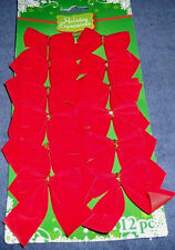 12 Mini Velvet Bow Christmas Ornaments Package Toppers Home Decor  B312
