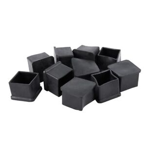 5X(10Pcs 30X30Mm Quadratische Gummi Schreibtisch Stuhl Bein Fuß Cover HoldeO4W3)