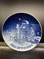 """ROYAL COPENHAGEN 1984 """"The Christmas Letter"""" Denmark Christmas 7""""  Plate"""