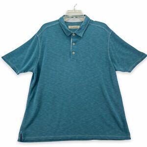 TOMMY BAHAMA Men's Short Sleeve Polo Shirt Size XL Extra Large Teal Marlin Logo