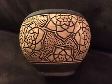 Beautiful Early Weller Claywood Arts & Crafts Pottery Vase Nice Floral Design