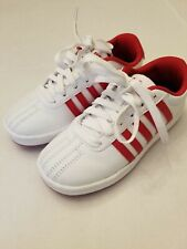 Children's K Swiss Classic Sneakers White/Red 55612-119-M New Sz 13.5 Used
