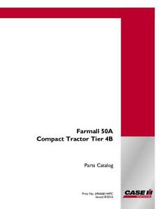 CASE IH FARMALL 50A COMPACT TRACTOR TIER 4B PARTS CATALOG