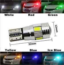 UPTO 10X T10 501 W5W CAR LED SIDELIGHT BULB ERROR FREE CANBUS 6SMD MULTICOLOR