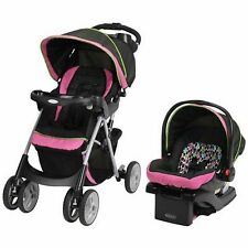 Baby Stroller Car Seat Travel System Pink Pram Buggies Girls Storage Basket New