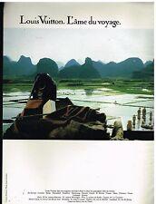 Publicité Advertising 1987 Maroquinerie Sac à main Louis Vuitton