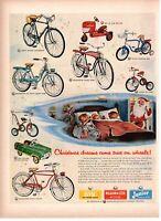 1954 ORIG VINTAGE AMF ROADMASTER BICYCLES, TRIKES, CARS & TRACTORS  MAGAZINE AD