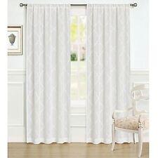 Laura Ashley White Windsor Window Panels Drapes Set 2 NEW 40x96