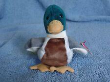 Ty Beanie Baby Jake the Mallard Duck Near Mint Condition