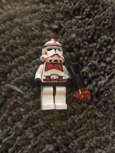 Lego Star Wars Minifigure Clone Trooper Ep 3 Red Markings Shock Trooper 2007