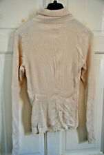 Marks & Spencer Cream Blanc Hiver Col Roulé Léger Pull sweater stretch 12