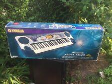 Yamaha PSR-160 BLUE & SLIVER 49-KEY SYNTHESIZER W/ Music Stand Orig Box Manual