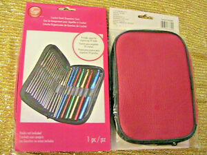 BOYE CROCHET HOOK ORGANIZER CASE for 24 hooks (not included) PINK ZIPPER POUCH