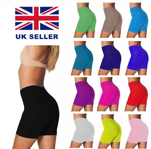 Ladies Cycling Shorts For Gym Running Leggings Active Casual Shorts Sizes 8-22
