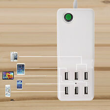 6 Port USB Desktop Rapid Intelligent Wall Charger with Auto Detect Technology