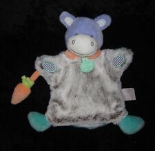 Doudou & Compagnie Marionnette Âne gris violet bleu Choupi Choupidoudou DC2900