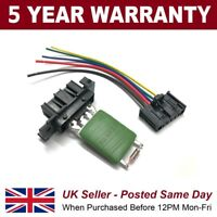 Heater Resistor and Wiring Loom Repair Plug for Vauxhall Corsa 06- Alfa Mito etc