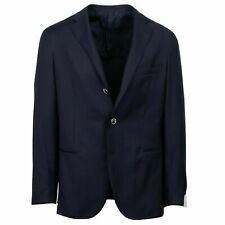 NWT CARUSO Blue Wool 3 Button Sport Coat 50/40 R Drop 8