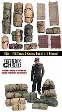 1/16 - 1/20 Universal/Generic Tents & Tarps Set #1 - ValueGear Resin 14 pcs