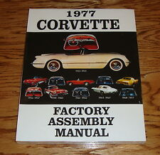 1977 Chevrolet Corvette Factory Assembly Manual 77 Chevy