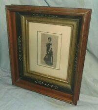 "Antique Victorian East Lake Deep Well Picture Frame w/ Photo for 8"" x 10"""