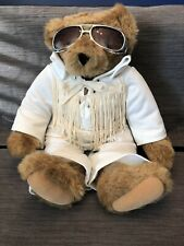 "New ListingElvis Presley Love Me Tender Plush Bear Vermont Teddy Bear Co approx 15"""