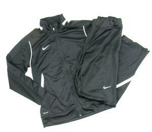 Nike Enforcer Warm-up Full Zip Training Jacket Pants Women's M Black 621954 Suit
