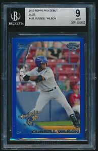 2010 Topps Pro Debut Blue rookie #435 Russell Wilson Baseball rc BGS 9 Mint /369