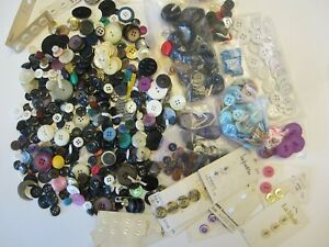 Large Vintage & New Button Lot 1.5#!  Huge Assortment Loose & Carded