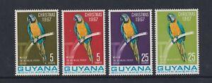 Guyana - 1967, Christmas, Macaw, Birds set - MNH - SG 441/4