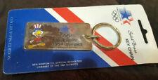 1984 Los Angeles OLYMPICS Solid BRASS KEYCHAIN US Mascot Sam the Eagle NEW NIP