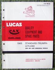 LUCAS - STANDARD/ LEYLAND/ TRIUMPH CARS SPARE PARTS LIST 1965 REF- CCE902/65