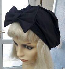 cfcfc95c062c0 Vintage inspired 1920s dark purple summer hat turban size M  L with bow