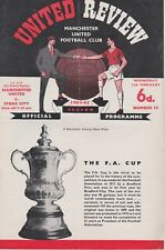 MANCHESTER UNITED v STOKE CITY ~ FA CUP 4TH ROUND REPLAY ~ 3 FEBRUARY 1965 (1)