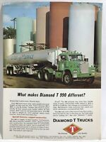 1963 DIAMOND T 990 Tandem Axle Tractor Truck Print Advertising Dealer Sample