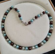 8mm multicolor Akoya Shell Pearl necklace AAA 18 inches  Y081