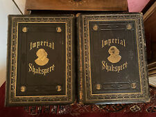 More details for imperial works of shakspere leather cover 2 books edited charles knight