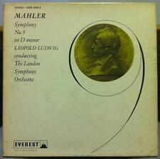 2 LP LUDWIG mahler symphony no. 9 VG+ SDBR 3050-2 Everst Stereo 1960 USA