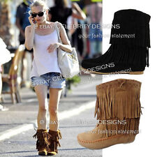 Suede Pull On Ankle Boots Solid Shoes for Women