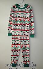 HANNA ANDERSSON Organic Long Johns Pajamas Disney Mickey Fair Isle 150 12 NWT