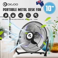 Digoo Portable Mini Desk Fan Air Cooler USB Rechargeable Metal 360° Rotatable