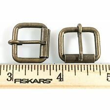Roller Buckles 5/8&quot Antique Brass Finish 12 Pieces
