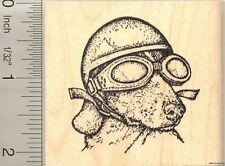Bad to the Bone Dachshund dog Rubber Stamp H50014 WM