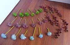 25 Miniature Grass Artificial Succulents Plants Home Garden Decoration