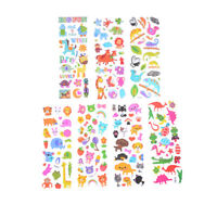 6 Sheets Cute Cartoon Animal Scrapbooking Bubble Puffy Sticker Reward Kid Toy LY