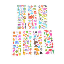 6 Sheets Cartoon Animal Scrapbooking Bubble Puffy Stickers Reward Kids Toys
